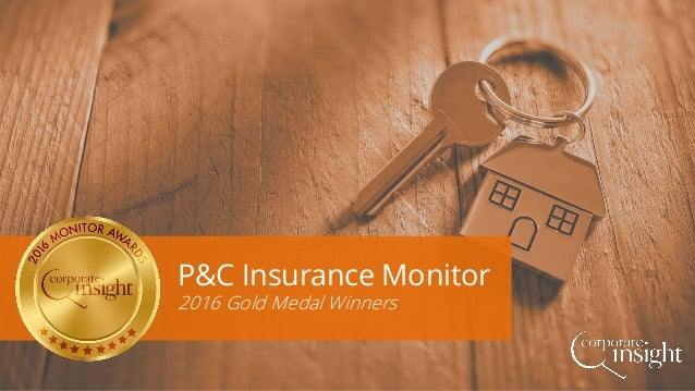 P&C Insurance Monitor 2016 Gold Medal Winners
