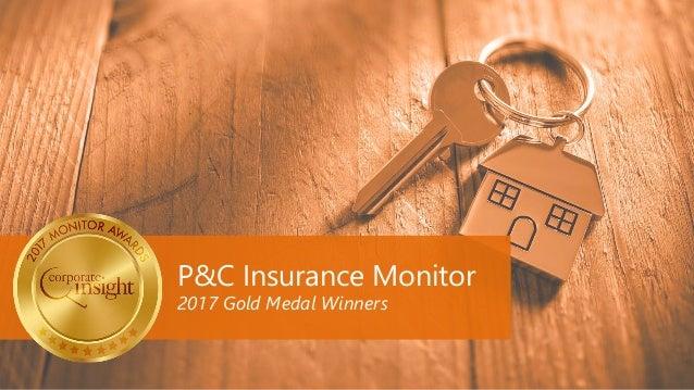 P&C Insurance Monitor 2017 Gold Medal Winners