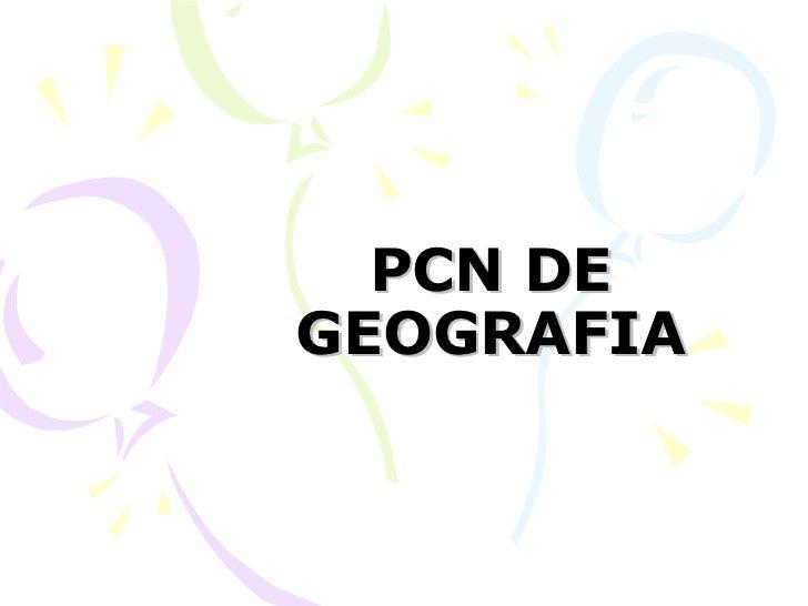 PCN DE GEOGRAFIA