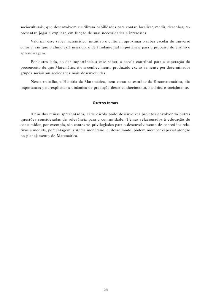 APRENDER E ENSINAR MATEMÁTICA                         NO ENSINO FUNDAMENTAL        O estudo dos fenômenos relacionados ao ...