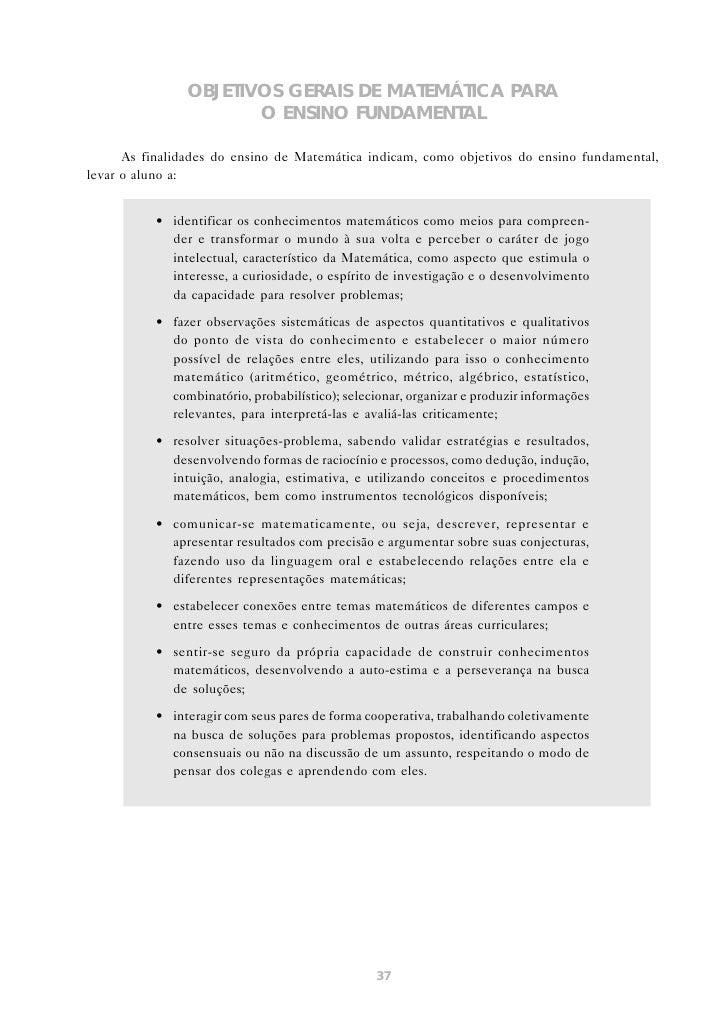 OS CONTEÚDOS DE MATEMÁTICA                            NO ENSINO FUNDAMENTAL      A discussão sobre a seleção e a organizaç...
