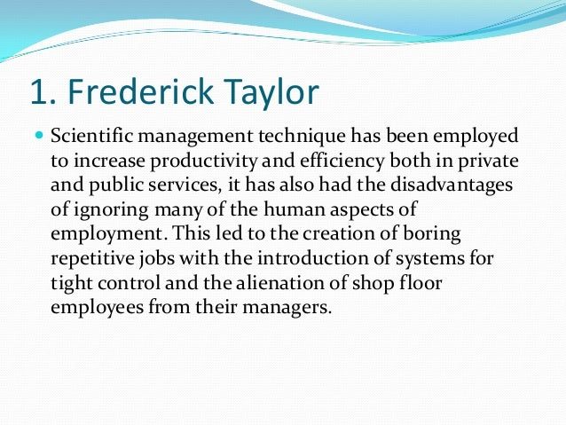 scientific management vs ordinary management Principles of scientific management mineola, ny: dover scientific management and the steps to be taken in changing from the ordinary to the scientific.