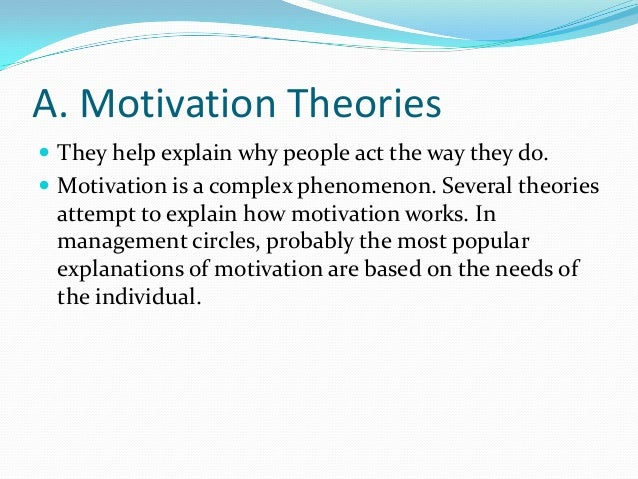 theories of motivation for conflict management Stores to department managers from warehouse employees to office and  logistics staff tesco recognises that employee motivation is important for the  continued.
