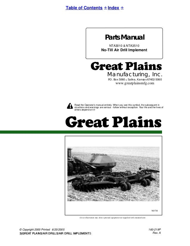 Great plains parts manual nta 3510 & nta 3010 no-till air drill imple…