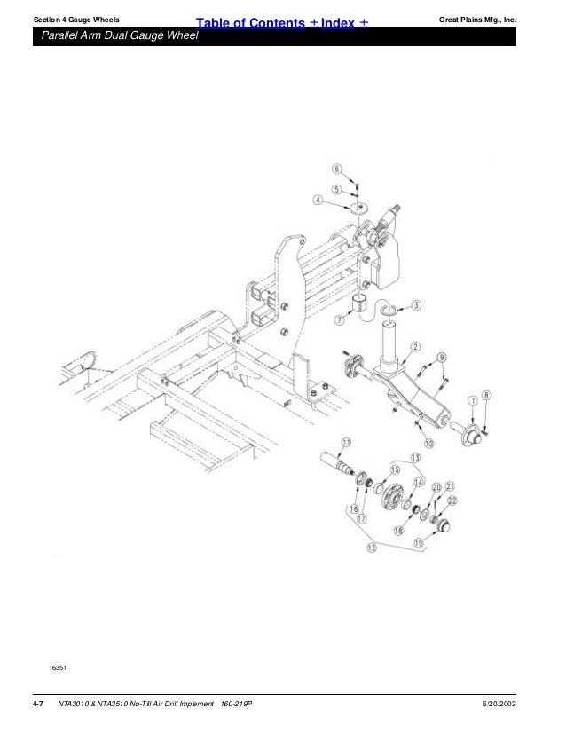 Great Plains Parts Manual Nta 3510 Nta 3010 No Till Air Drill Imple