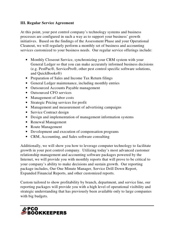 PCO Bookkeepers Executive Summary