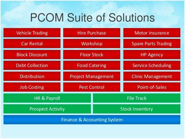 Pcom Erp Solutions Singapore Car Dealership Software