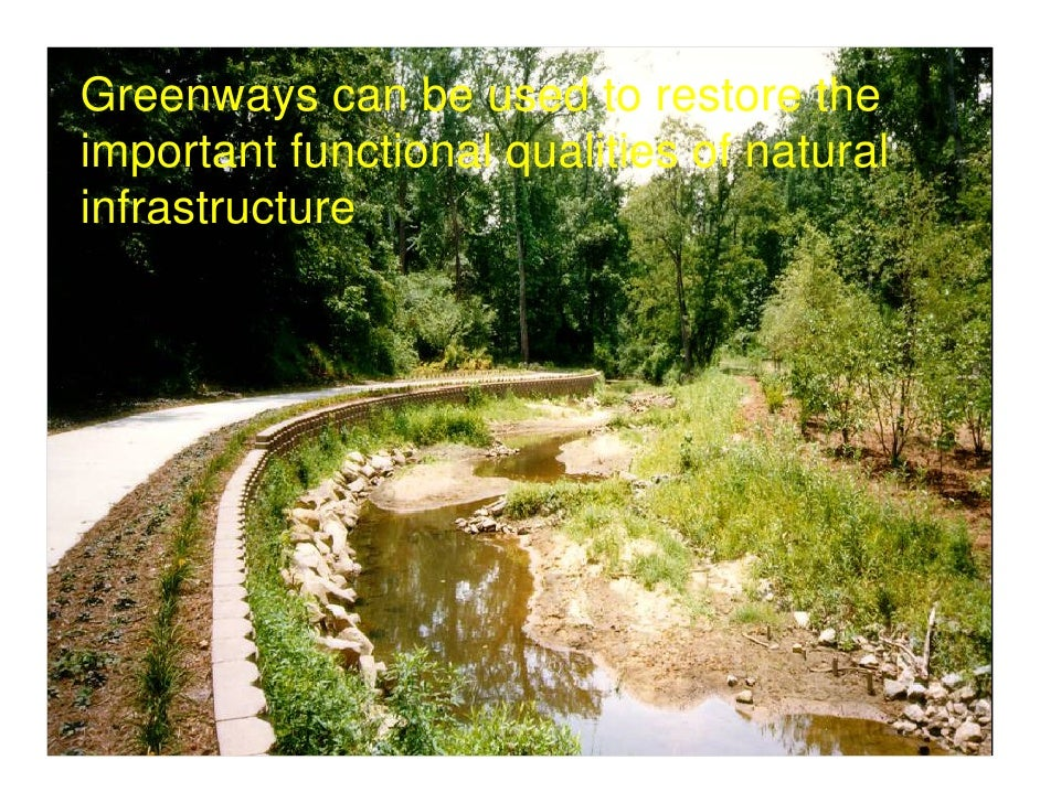 the importance of green infrastructure The concept of a green infrastructure is able to combat against these underlying problems according to a recent study ( landscape and urban planning 2015 ), a green infrastructure is at the heart of changing the deterioration of urban areas.