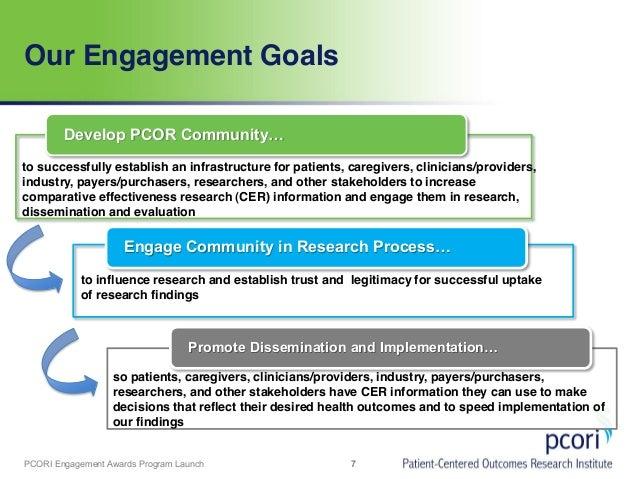 Launching The Eugene Washington Pcori Engagement Awards Program