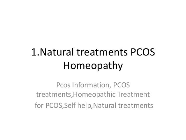 Pcos natural homeo treatments
