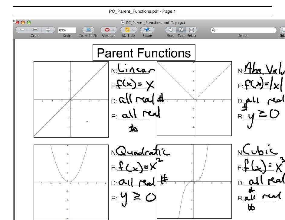 PC Parent Functions