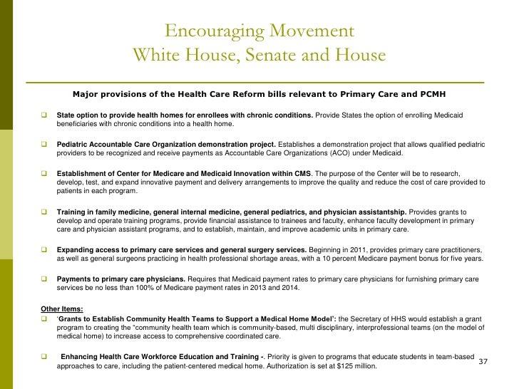 Health care reform medical home model