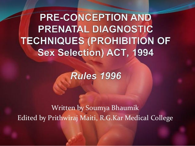 PC & PNDT ACT - Introduction
