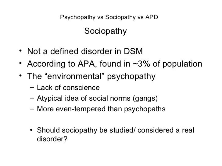 psychopathy and sociopathy essay Free essay: introduction the purpose of this study is to compare and contrast the constructs of psychopathy and antisocial personality disorder the aim is.