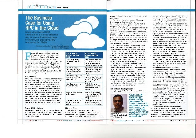 The Business Case for Using HPC in the Cloud