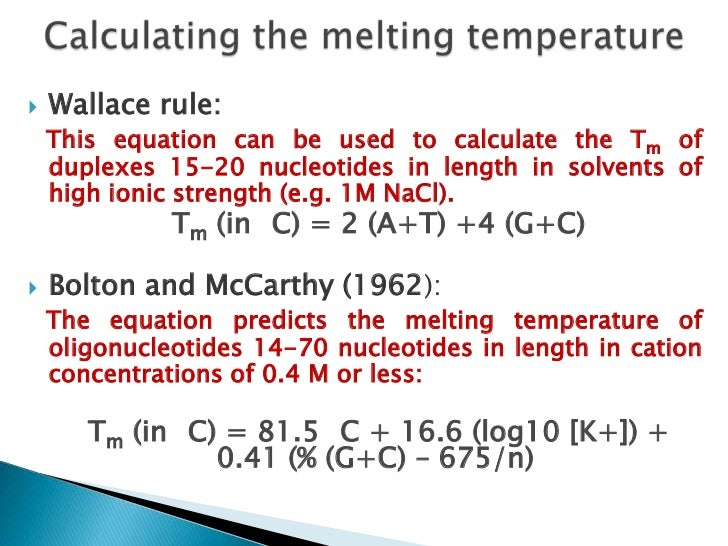Many computer programs are available that generatepotentially specific primers whose melting temperatureshave been calcula...