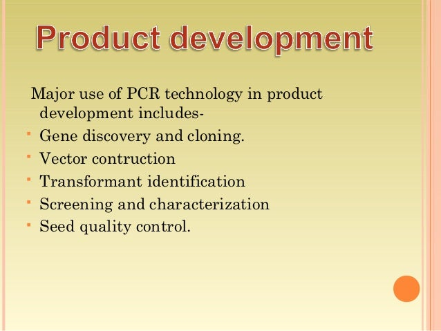 application of pcr in agriculture