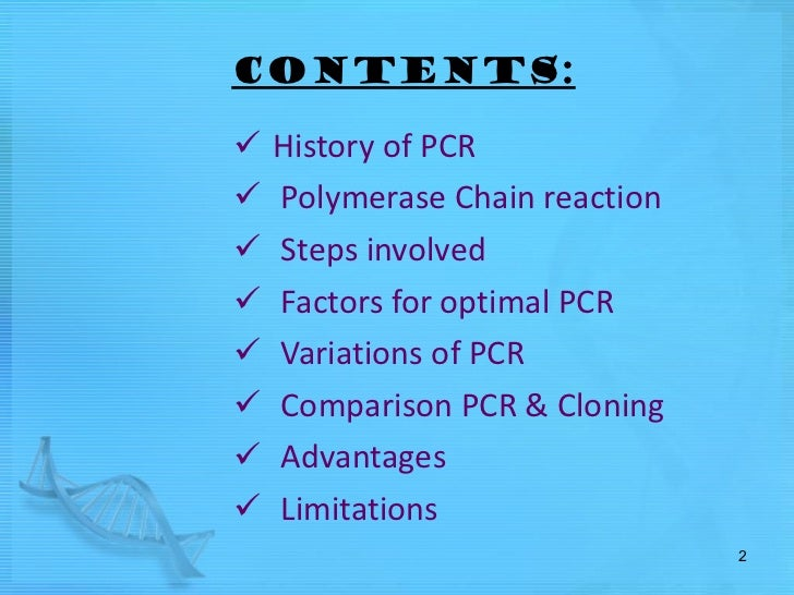 Pcr Steps Involved In Polymerase Chain Reaction Video