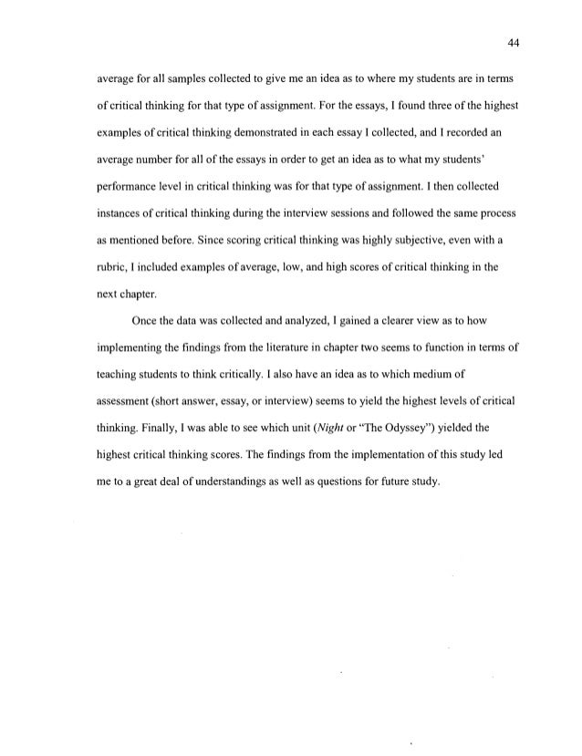 short answer and critical thinking essay The differences between a short essay and a short answer: your instructor's expectations short essay short answer audience someone who has not even seen/read the assigned materials someone who assigned the reading materials and knows the information at.