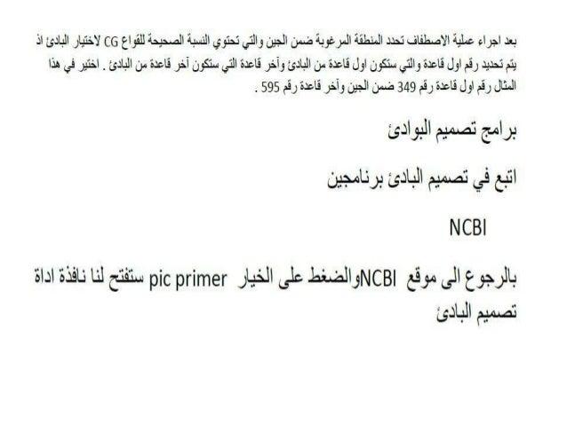 NCBI -Pcr primer design