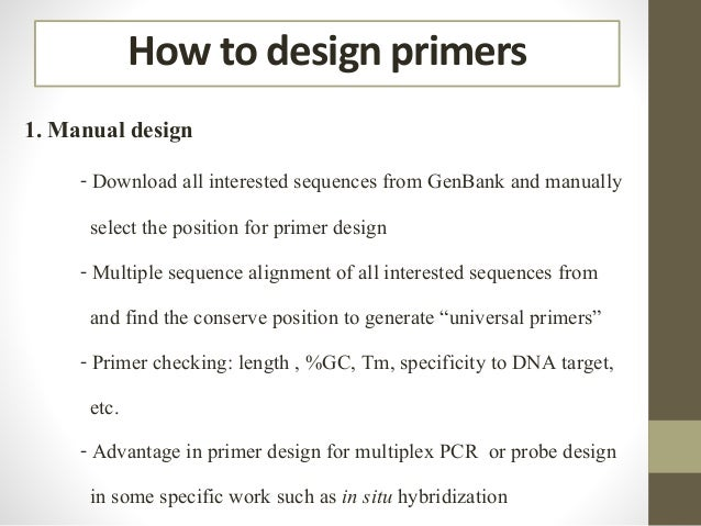 Pcr primer design english version How design com