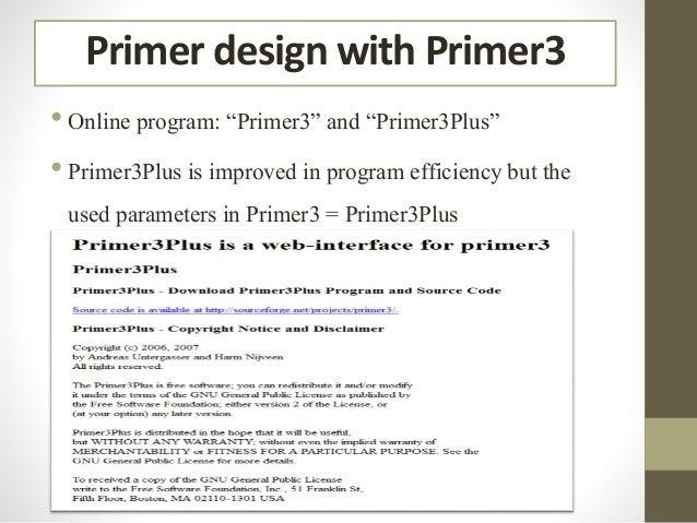 Pcr Primer Design English Version