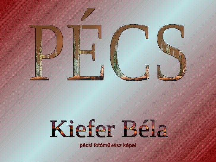 PÉCS  Kiefer Béla 2. pécsi fotóm ű vész képei