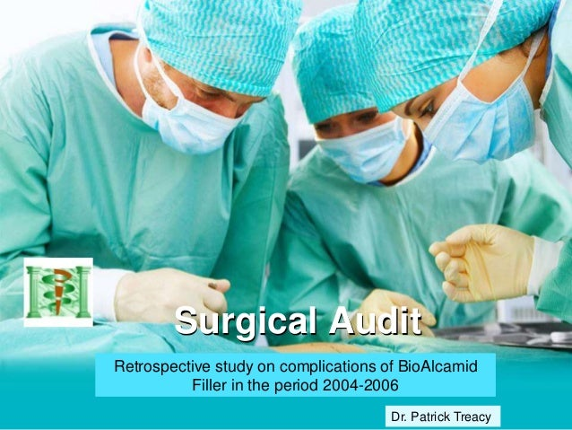 Surgical Audit Retrospective study on complications of BioAlcamid Filler in the period 2004-2006 Dr. Patrick Treacy
