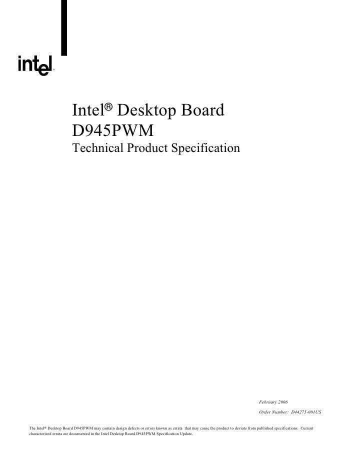Intel® Desktop Board                         D945PWM                         Technical Product Specification              ...