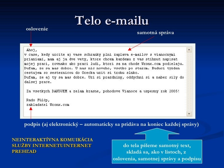 Online datovania e-maily zastavil