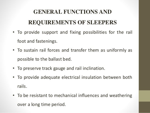 Analysis And Design Of Prestressed Sleepers