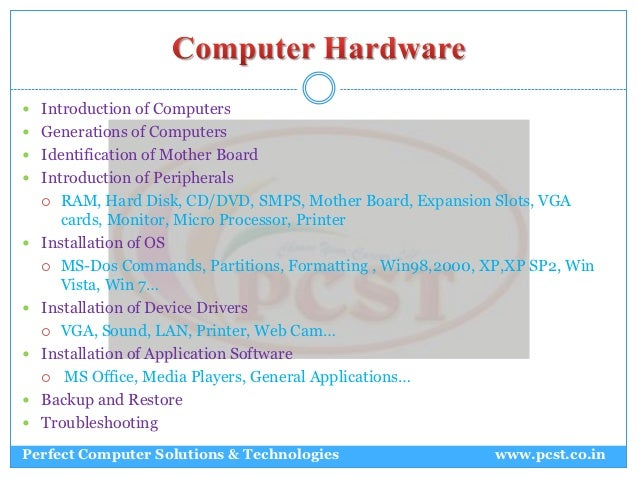 introduction to computer hardware and software pdf