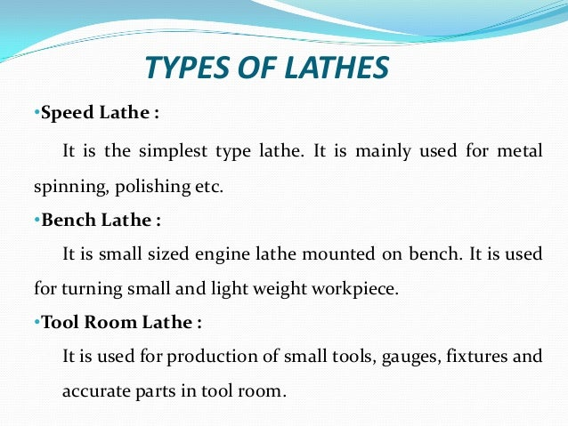 lathe machine type