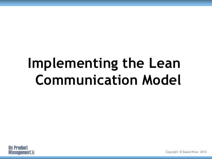 PCT2010 - Lean Communications - Aligning diverse teams and accelerati…