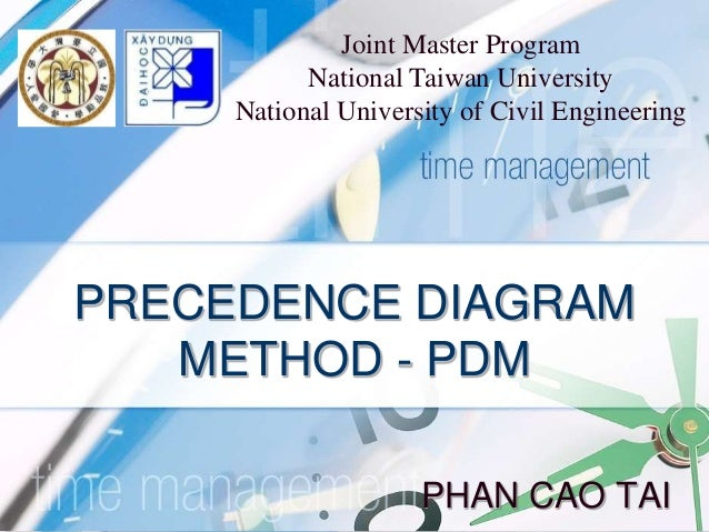 Pdm Precedence Diagram Method
