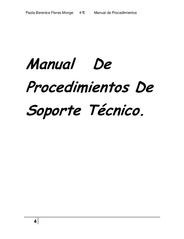 Pc technical manual de procedimientos paola