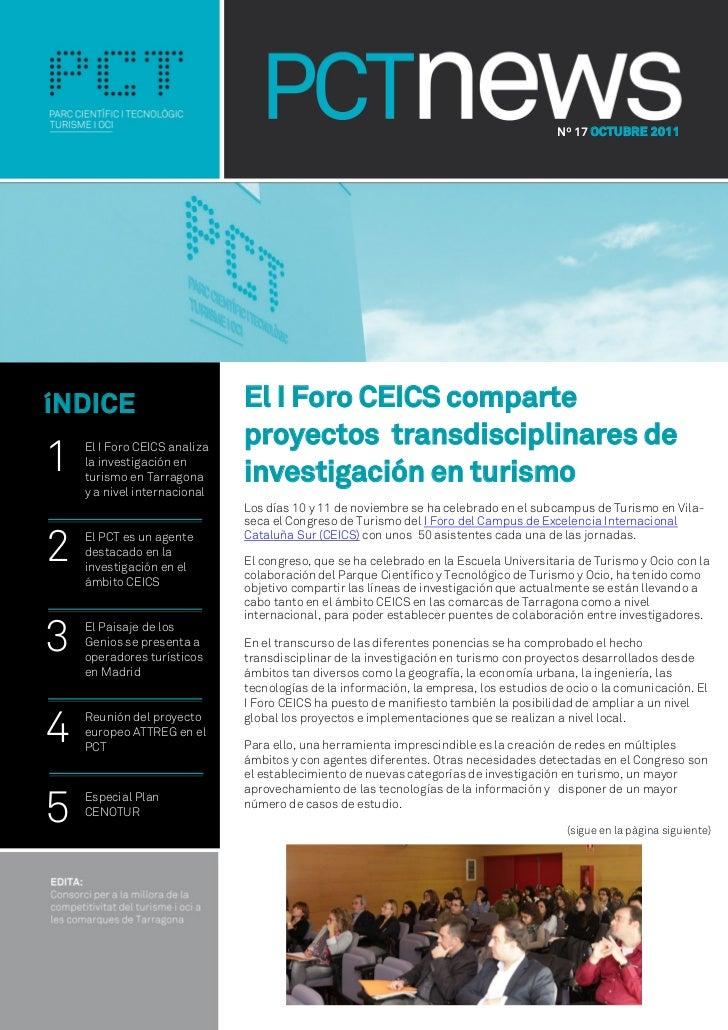 Nº 17 OCTUBRE 2011íNDICE                        El I Foro CEICS comparte                              proyectos transdisci...
