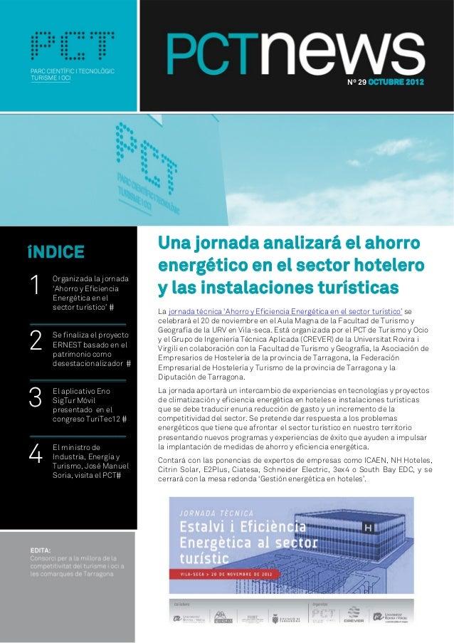 Nº 29 OCTUBRE 2012                              Una jornada analizará el ahorroíNDICE                              energét...