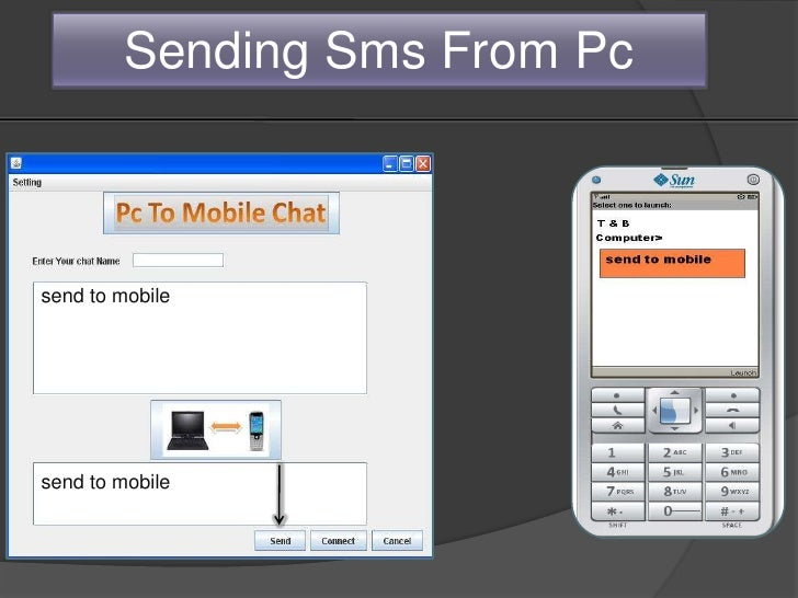 Pc to Mobile chatting using Bluetooth