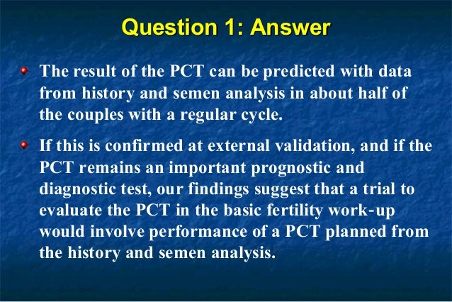 Post Coital Test (PCT): A Panel Discussion