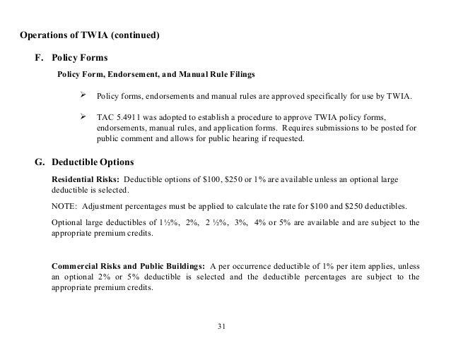 Texas Windstorm Insurance Association Overview