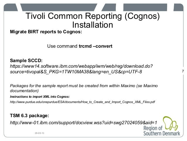 Tivoli Common Reporting and Cognos - Customer Case