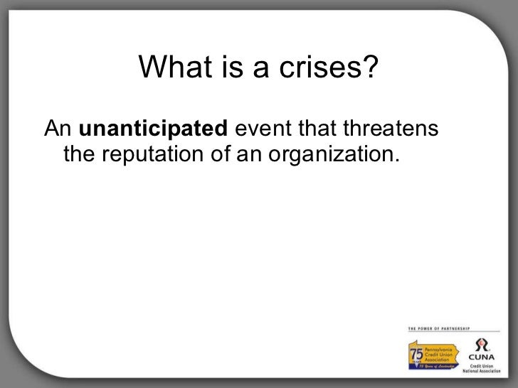 Pennsylvania Credit Union Association Pr Crises Strategies
