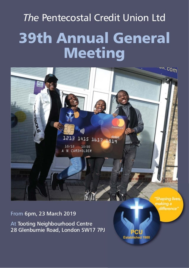 The Pentecostal Credit Union Ltd - 39th Annual General Meeting