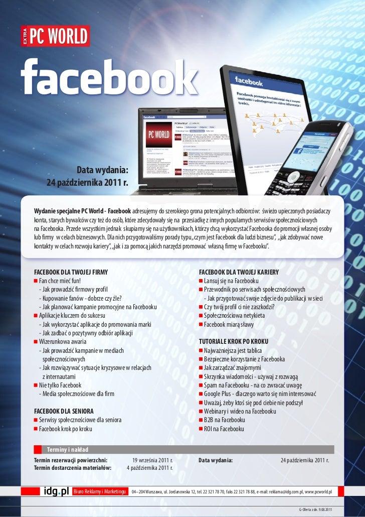 extra                     Data wydania:             24 października 2011 r.        Wydanie specjalne PC World - Facebook a...