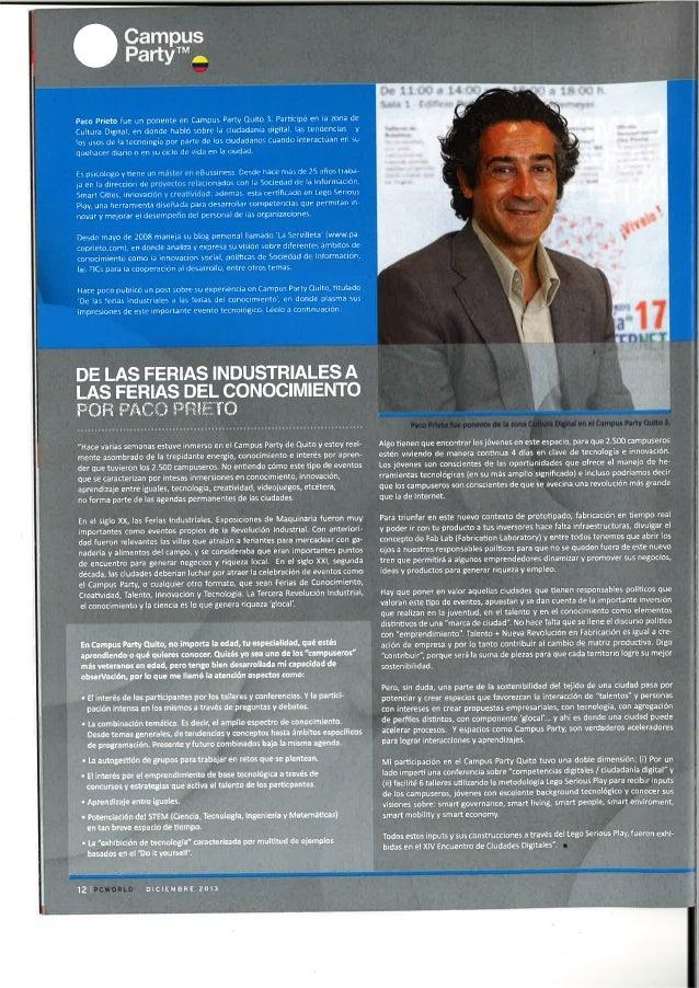 De las Ferias Industriales a la Feria del Conocimiento. PC World Ecuador