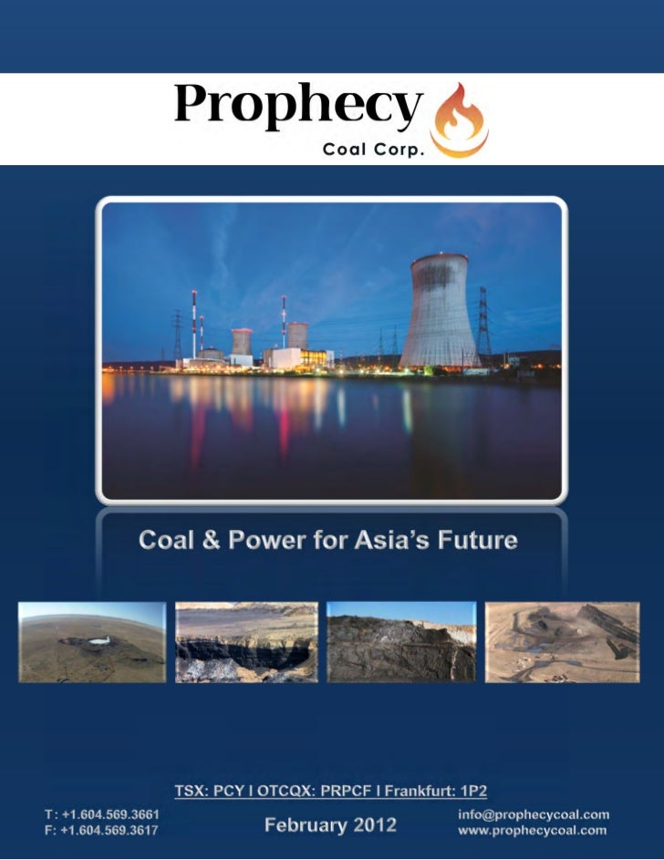 Prophecy's Chandgana Coal Field April 2011                                                             Chandgana Power Pla...