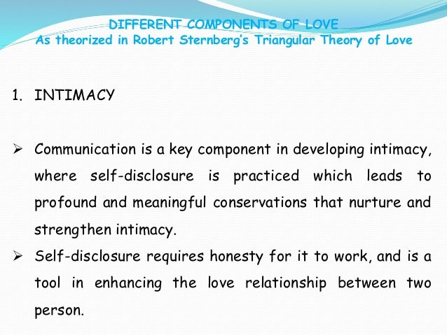 Developing intimacy in a relationship