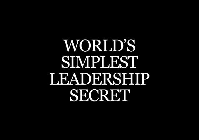 THE SECOND LITTLE BOOK OF LEADERSHIP WORLD'S SIMPLESTLEADERSHIP  SECRET    47
