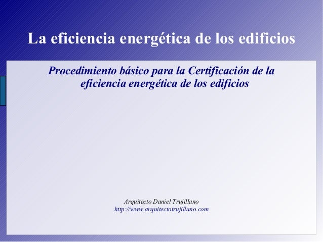 Certificación de eficiencia energética de edificios